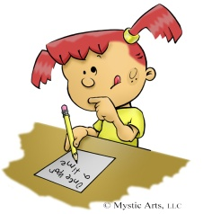 cartoon%20picture%20of%20girl%20writing